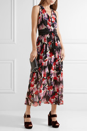 Marc Jacobs Belted printed silk-georgette wrap dress