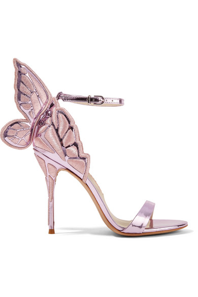 98b224a3352 Chiara embroidered metallic leather sandals