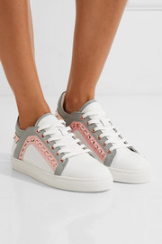 Sophia Webster Riko metallic-trimmed leather sneakers