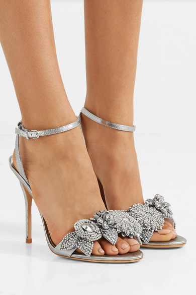 Sophia Webster Lilico Studded Sandals Lame From