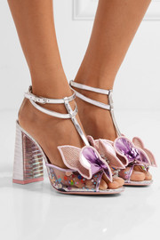 Sophia Webster Lana embellished PVC and metallic leather sandals
