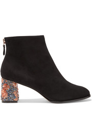 Stella embellished suede ankle boots