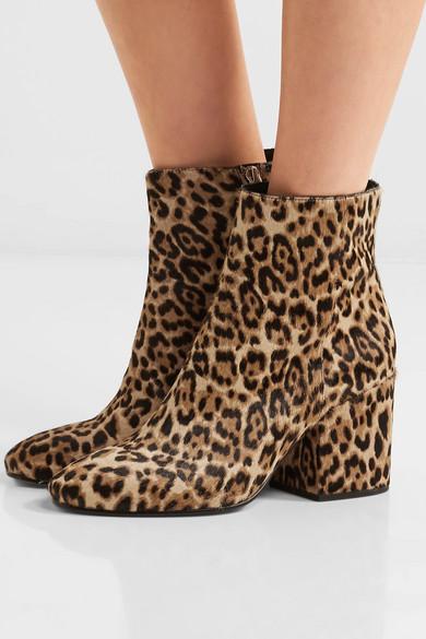379e9441b Sam Edelman. Taye leopard-print calf hair ankle boots