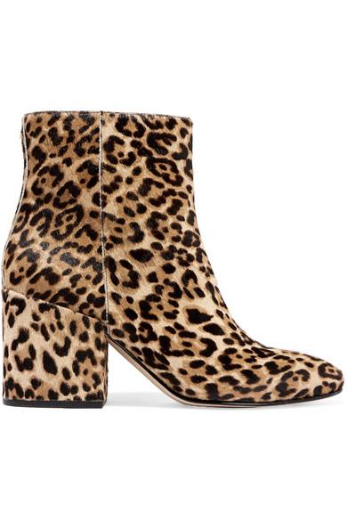 ea2bf485975863 Sam Edelman. Taye leopard-print calf hair ankle boots