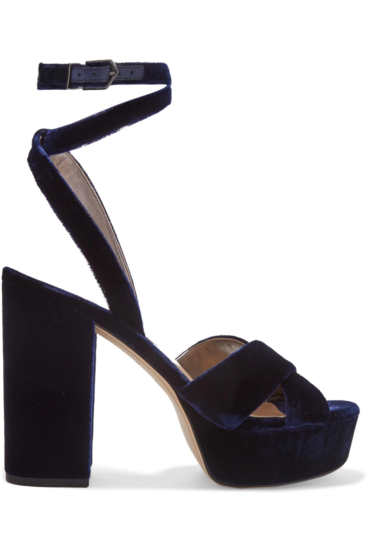 Indigo Mara velvet platform sandals