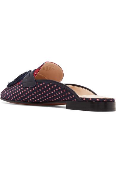 097c03f59865e Sam Edelman. Parsimon tasseled printed twill slippers.  65. Zoom In