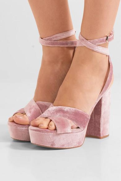 9128f3bde41e1e Sam Edelman. Mara velvet platform sandals