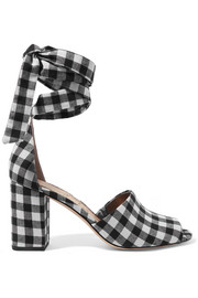Sam Edelman Odele gingham canvas sandals