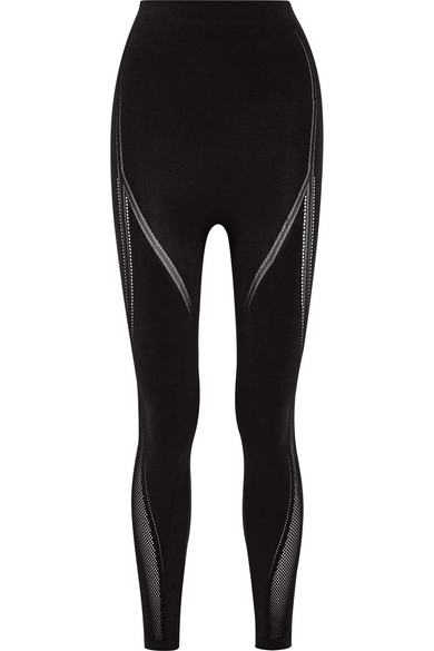 eb2488d7b7415 Fendi | Roma perforated stretch leggings | NET-A-PORTER.COM