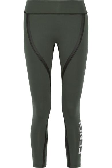 b78c70c01f98c Fendi | Roma coated stretch leggings | NET-A-PORTER.COM