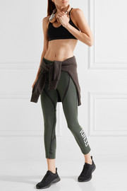 Fendi Roma coated stretch leggings