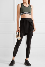 Fendi Roma perforated stretch sports bra