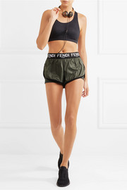 Fendi Layered shell and stretch-jersey shorts