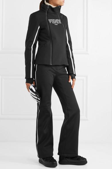 Fendi Roma Ski-Jacke mit Streifen