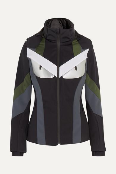 34abcc54f8 Fendi. Wonders paneled hooded ski jacket
