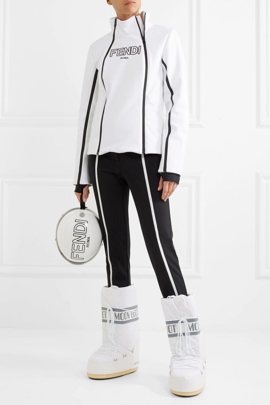 Fendi Roma printed stretch jacket