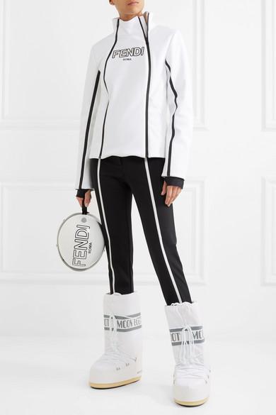 Fendi Roma bedruckte Jacke aus Stretch-Material