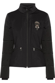 Fendi Karlito embellished quilted down ski jacket