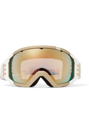 Golden Roma studded mirrored ski goggles