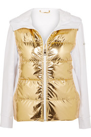 Fendi Golden Roma metallic padded ski jacket