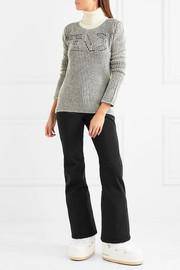 Fendi Striped knitted turtleneck sweater