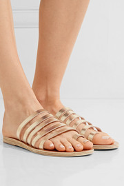 Niki metallic leather sandals