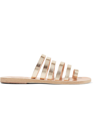 Niki Metallic Leather Sandals - Gold Ancient Greek Sandals rWgPoxx