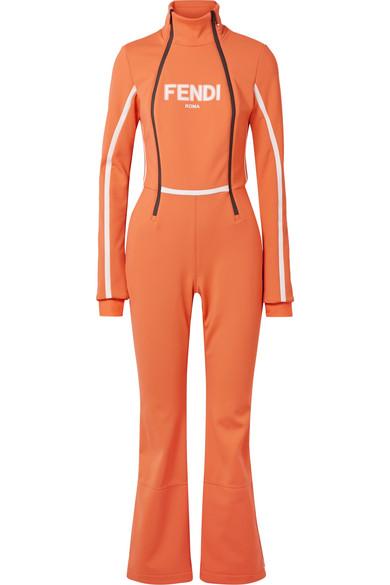 Fendi - Roma Printed Ski Suit - Orange