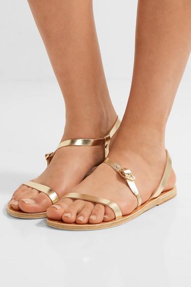 Ancient Greek Sandals Niove Sandalen aus Metallic-Leder