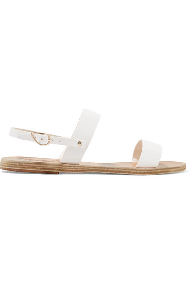 Ancient Greek Sandals - Clio Leather Sandals - White