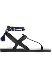 Ancient Greek Sandals + LemLem Estia tasseled leather sandals