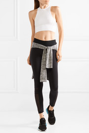 + Karlie Kloss Cropped Climalite  mesh and stretch-knit tank