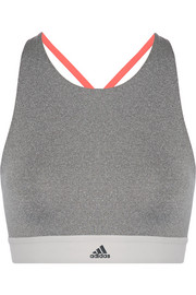 Color-block Climalite stretch sports bra
