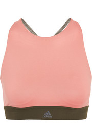 Adidas Performance Color-block Climalite stretch sports bra