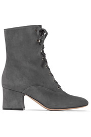 Gianvito Rossi Lace-up suede boots