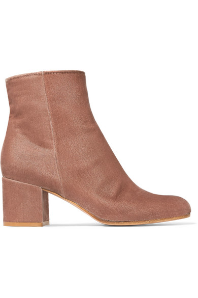 Gianvito Rossi - Margaux 65 Velvet Ankle Boots - Baby pink