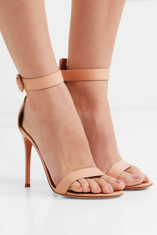 Gianvito Rossi Portofino 110 leather sandals