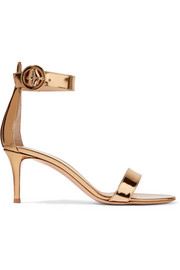 Gianvito Rossi Portofino metallic leather sandals