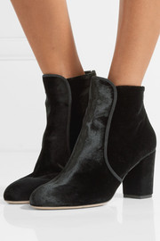 Charlotte Olympia Alba embellished velvet ankle boots