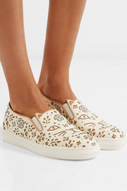 Charlotte Olympia Cool Cats laser-cut leather sneakers