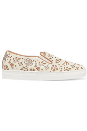 Cool Cats laser-cut leather sneakers