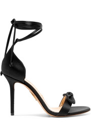 Charlotte Olympia Shelley bow-embellished satin sandals