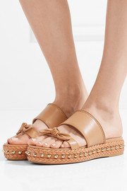 Charlotte Olympia Hackney studded leather espadrille sandals