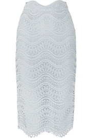 Lela Rose Guipure lace midi skirt