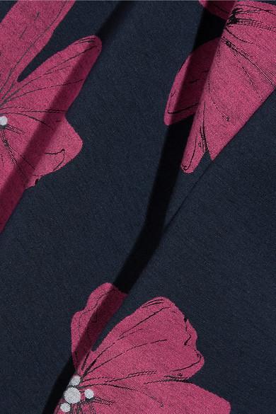 Lela Rose Verkürzte Hose mit schmalem Bein aus Jacquard aus einer Baumwollmischung mit floralem Print