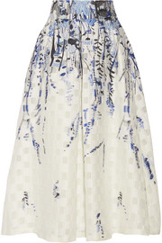 Lela Rose Fil coupé jacquard midi skirt