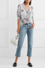 Equipment Ansley printed washed-silk shirt