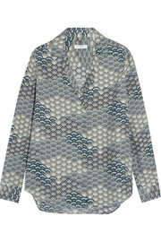 Equipment Adalyn printed washed-silk shirt