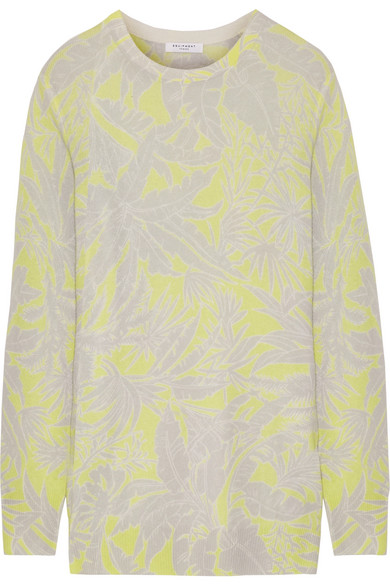 Equipment - Rei Intarsia Cashmere Sweater - Chartreuse