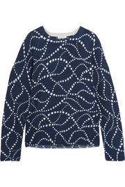 Equipment Sloane intarsia cashmere sweater